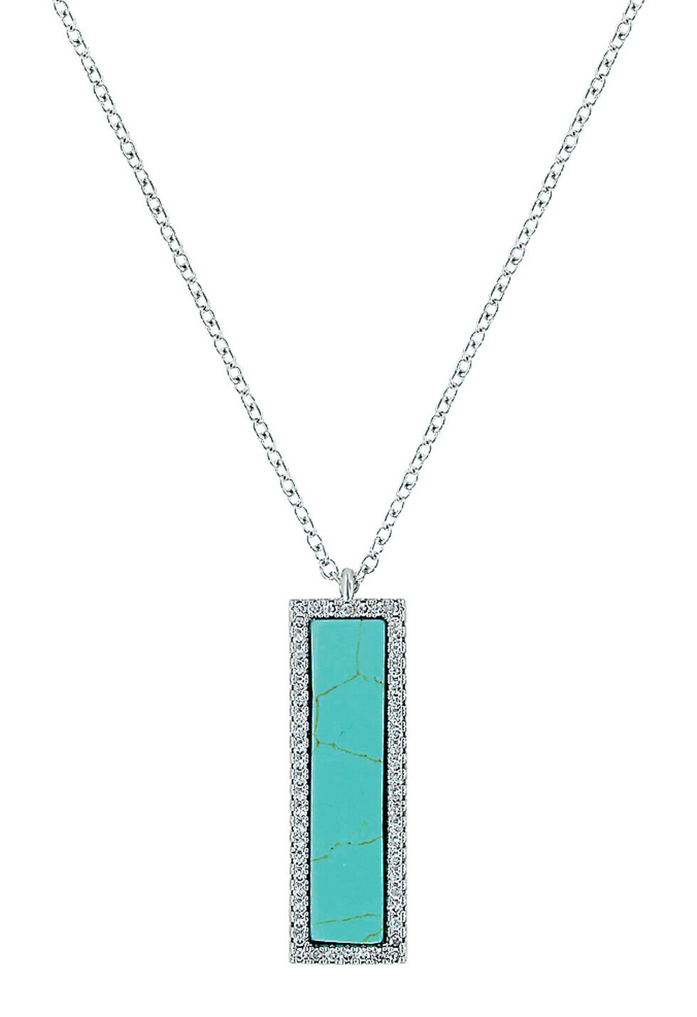 Montana Silversmiths Women's Written Faith Necklace , Turquoise, hi-res