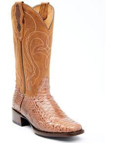 Shyanne Women's Geneva Exotic Snake Skin Western Boots - Wide Square Toe, Tan, hi-res