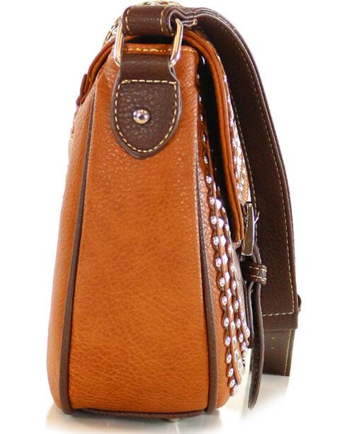 Shyanne Women's Embellished Star Concho Saddlebag, Brown, hi-res