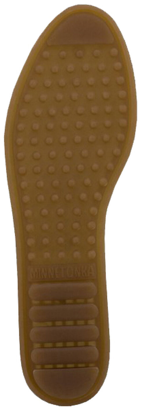 Minnetonka Women's Kilty Moccasins, Brown, hi-res