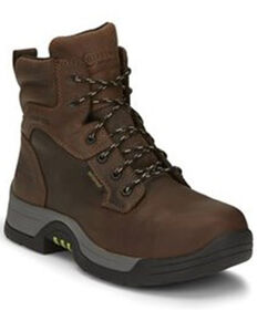 Chippewa Men's Fabricator Waterproof Work Boots - Composite Toe, Brown, hi-res