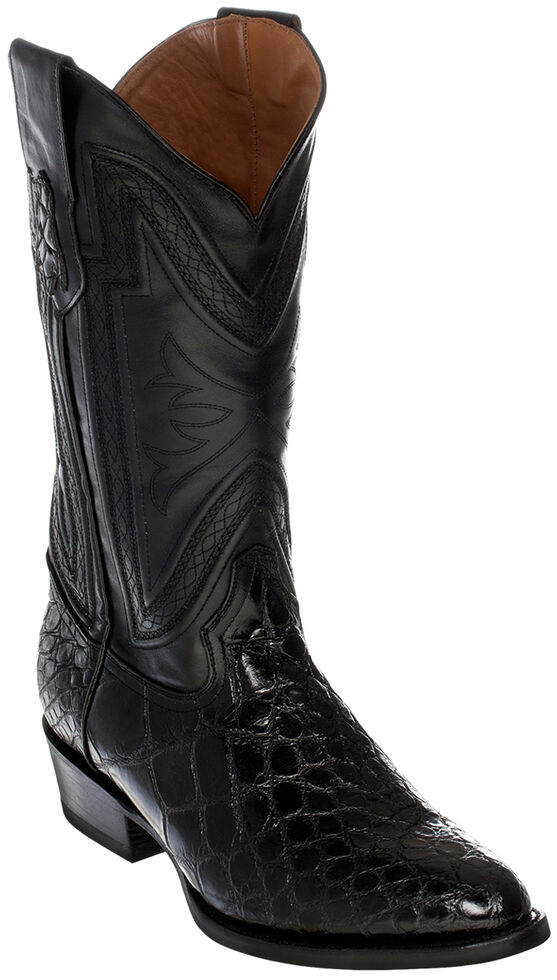 Ferrini Alligator Belly Exotic Cowboy Boots - Medium Toe, Black, hi-res
