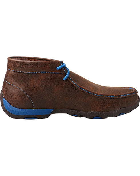 Twisted X Women's Brown and Blue Driving Moccasins, Brown, hi-res