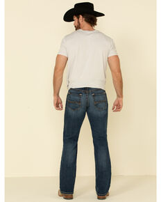 Ariat Men's M4 Travis Forest Dark Stretch Relaxed Bootcut Jeans - Big , Indigo, hi-res