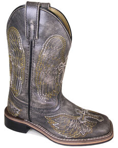 Smoky Mountain Boys' Guardian Western Boots - Square Toe, Black, hi-res