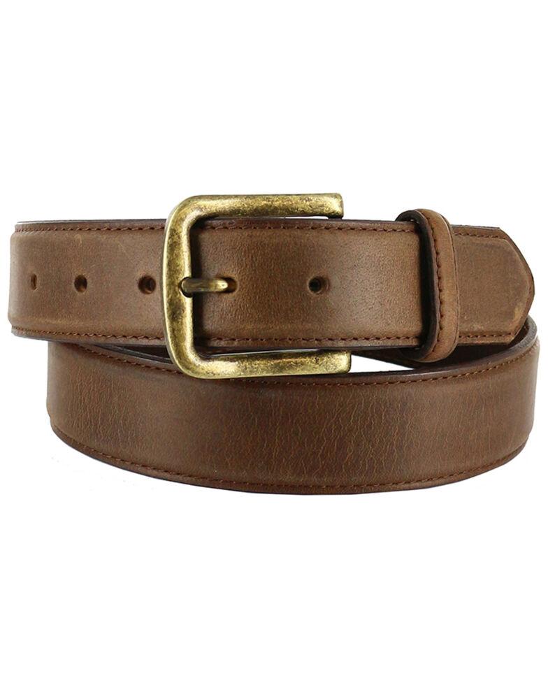 Cody James Men's Classic Leather Belt, Tan, hi-res