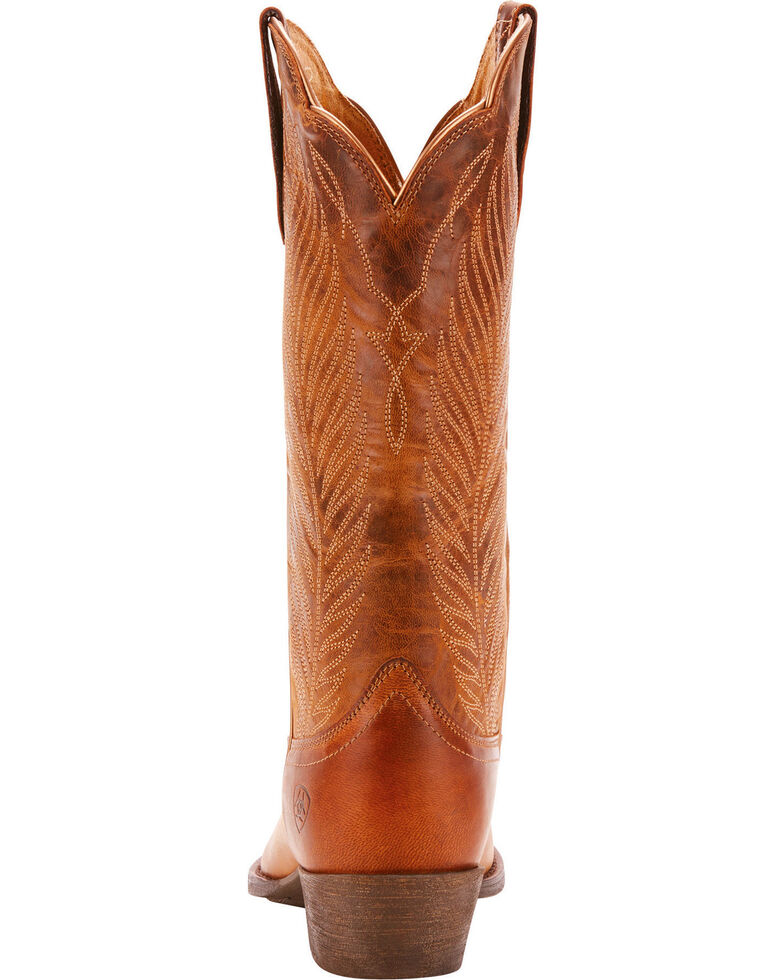 Ariat Women's Round Up Johanna Pearl Cowgirl Boots - Pointed Toe, Tan, hi-res