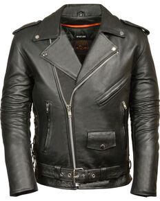 590c75ac6fd7 Milwaukee Leather Mens Classic Side Lace Police Style Motorcycle Jacket