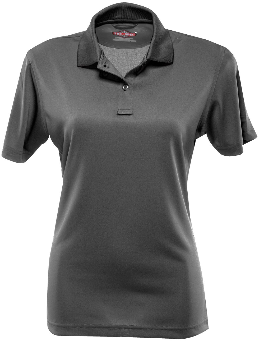 Tru-Spec Women's 24-7 Short Sleeve Performance Polo Shirt - Extra Large Sizes, Charcoal Grey, hi-res