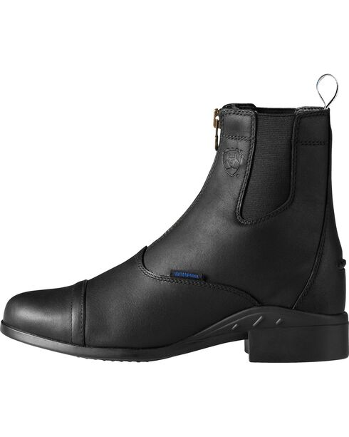 Ariat Heritage H2O Zipper Riding Boots - Round Toe, Black, hi-res