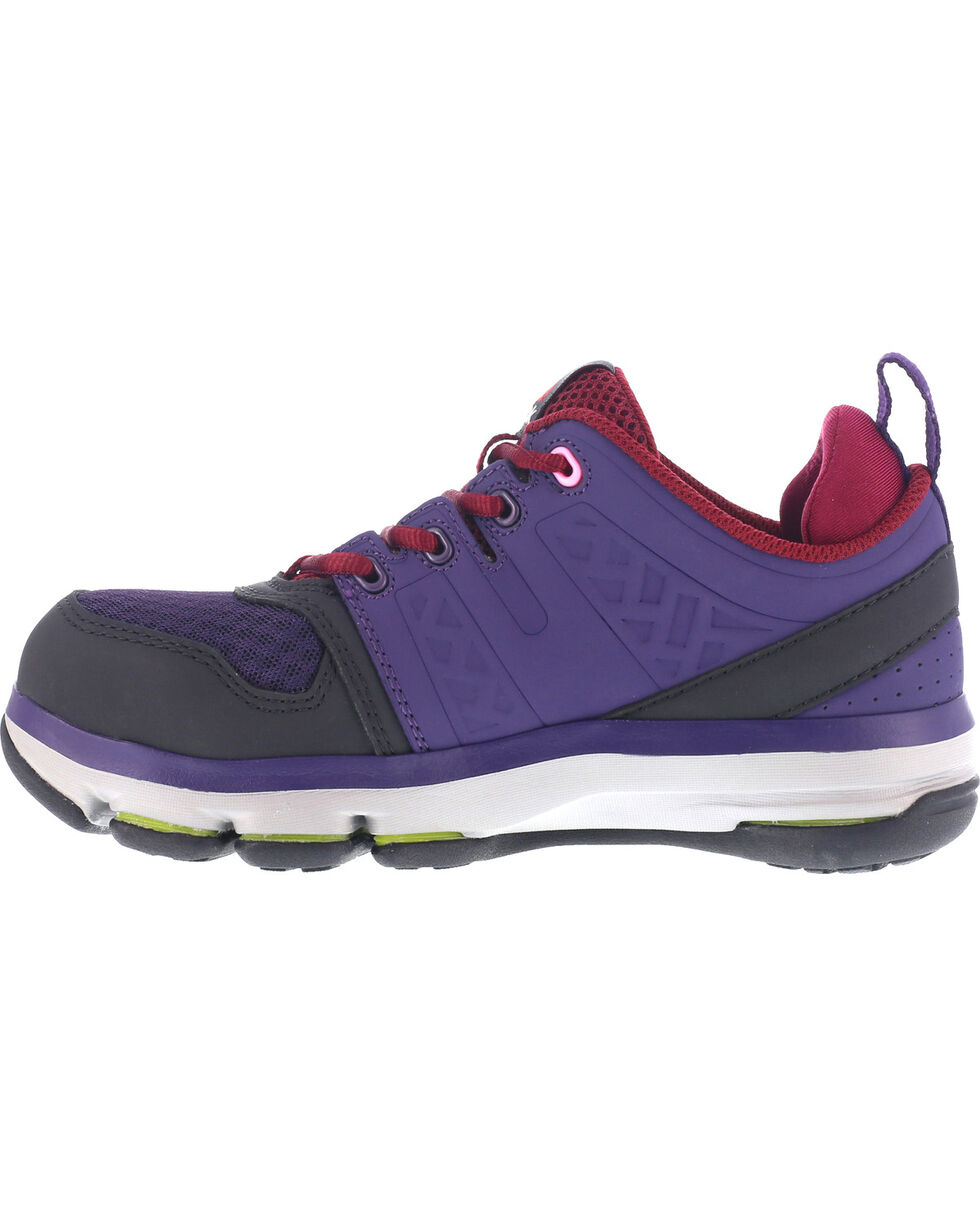 Reebok Women's Violet Athletic Oxford DMX Flex Work Shoes - Alloy Toe , Violet, hi-res