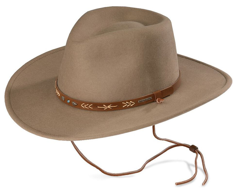 Stetson Santa Fe Crushable Wool Felt Hat  8dd1a1f8ade
