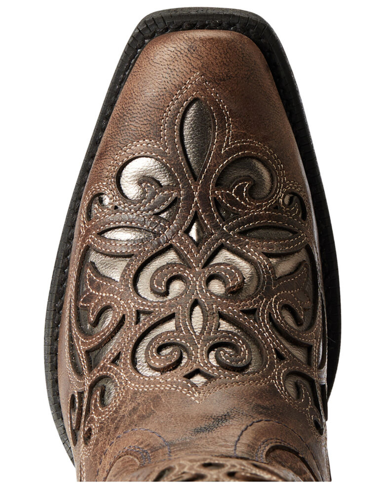 Ariat Women's Taupe Divine Western Boots - Round Toe, Grey, hi-res