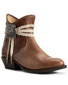 Ariat Women's Circuit Safe Fashion Booties - Round Toe, Brown, hi-res