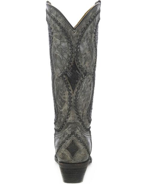 Corral Women's Diamond Inlay Cowgirl Boots - Snip Toe, Black, hi-res