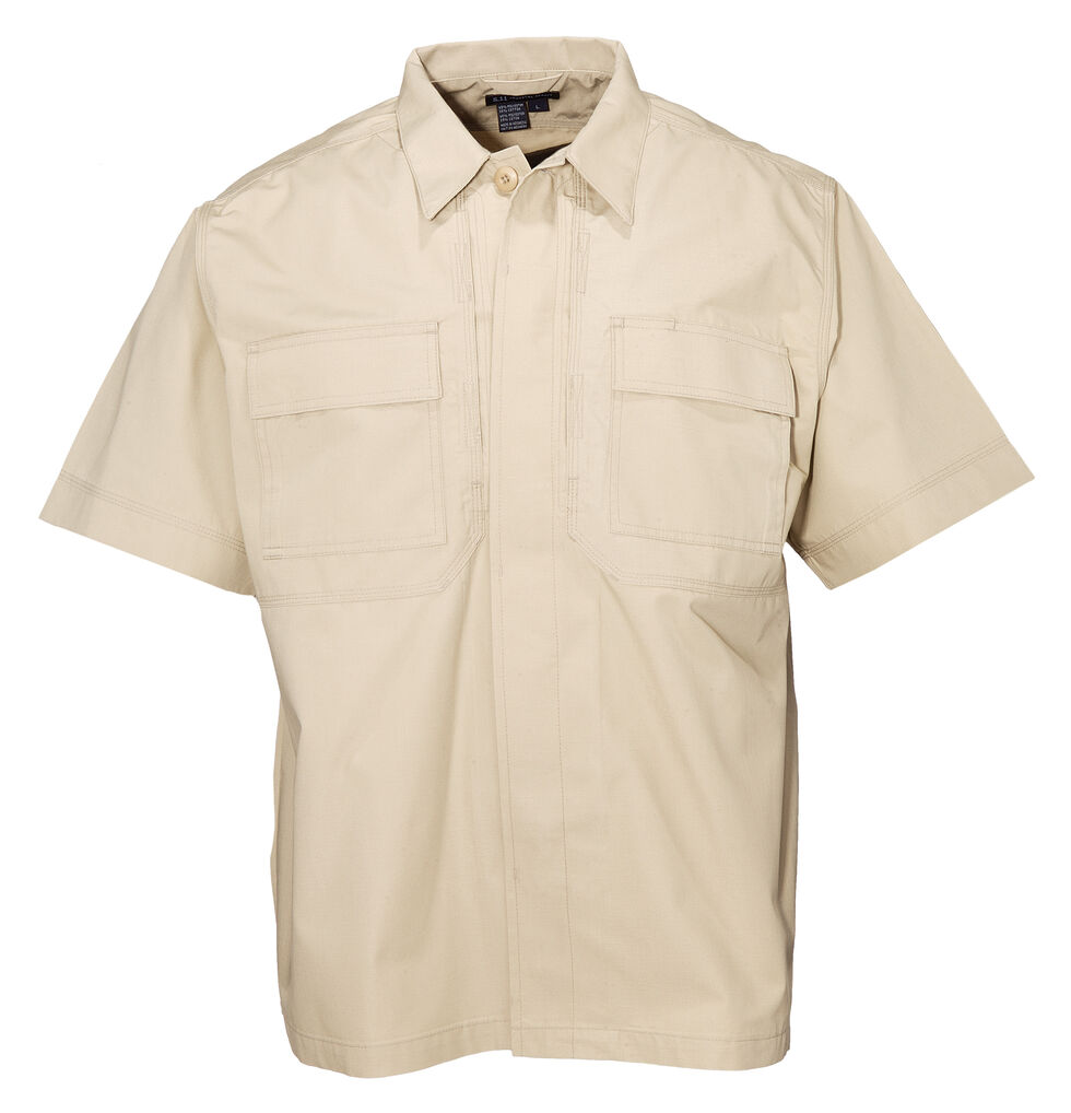 5.11 Tactical Taclite TDU Short Sleeve Shirt - Tall Sizes (2XT - 5XT), Khaki, hi-res