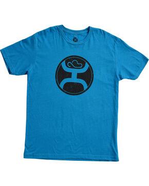 HOOey Men's 2.0 Turquoise Short Sleeve Logo T-Shirt, Turquoise, hi-res
