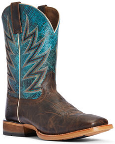 Ariat Men's Challenger Stout Western Boots - Wide Square Toe, Dark Brown, hi-res