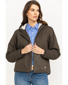 Ariat Women's R.E.A.L. Banyan Bark Outlaw Jacket, Brown, hi-res