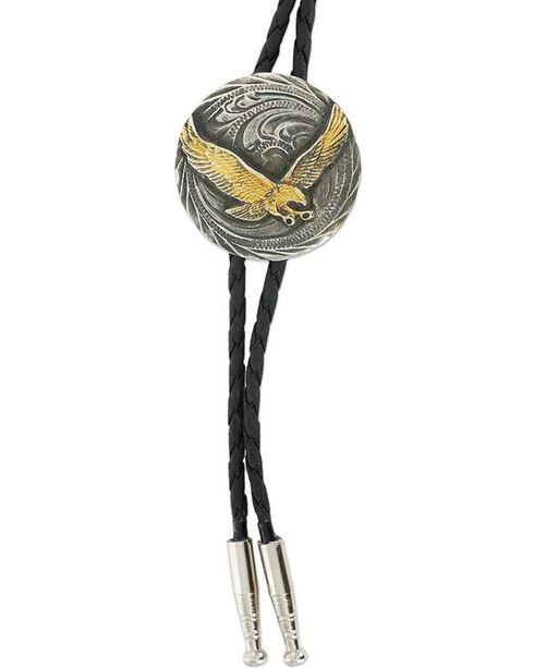 Cody James Men's Eagle Bolo Tie, Silver, hi-res