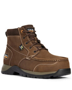 Ariat Men's Edge Lite Metguard Work Boots - Composite Toe, Brown, hi-res