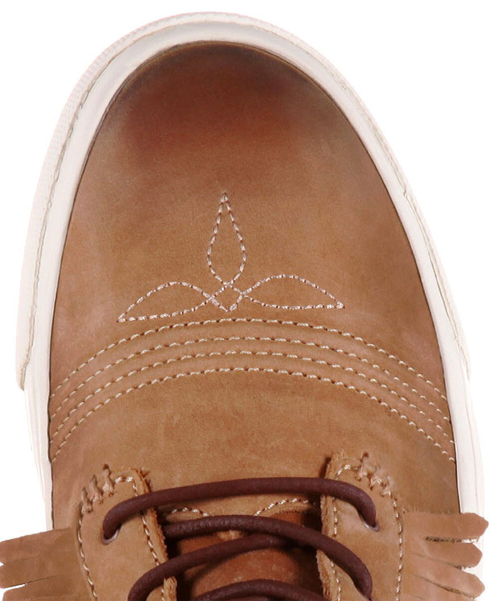 Durango Women's Brown Music City Fringe Lacer Sneakers , , hi-res