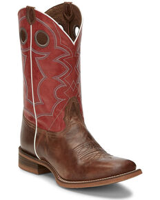 Nocona Men's Cohan Brown Western Boots - Square Toe, Brown, hi-res