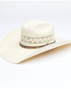 Larry Mahan Men's 10X Natural Palomino Western Straw Hat , Natural, hi-res