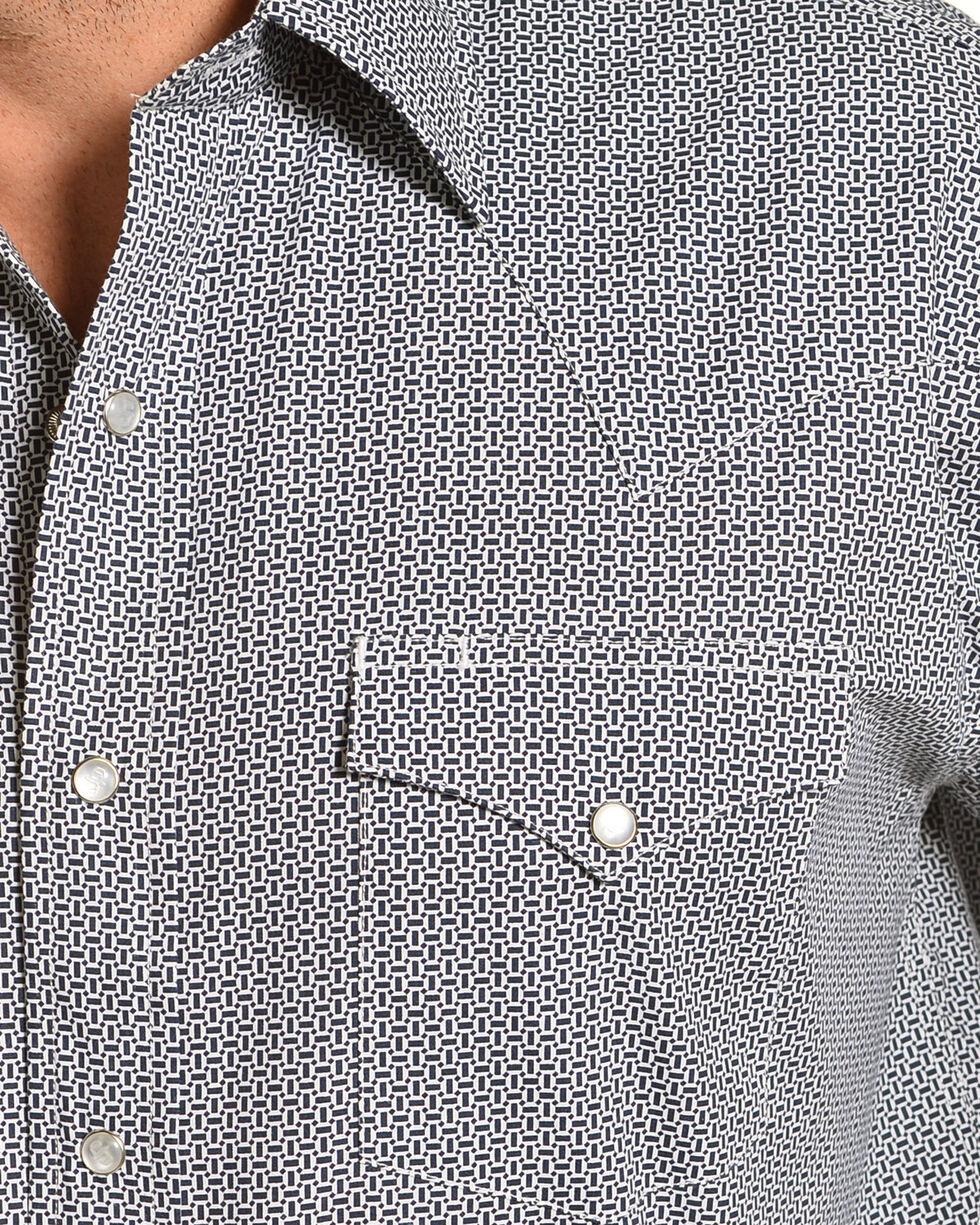 Stetson Men's Blue Micro Print Western Shirt , Blue, hi-res