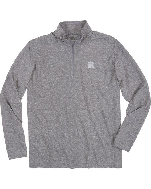 Wrangler Men's Olive Riggs Workwear 1/4 Zip Pullover , Heather Grey, hi-res
