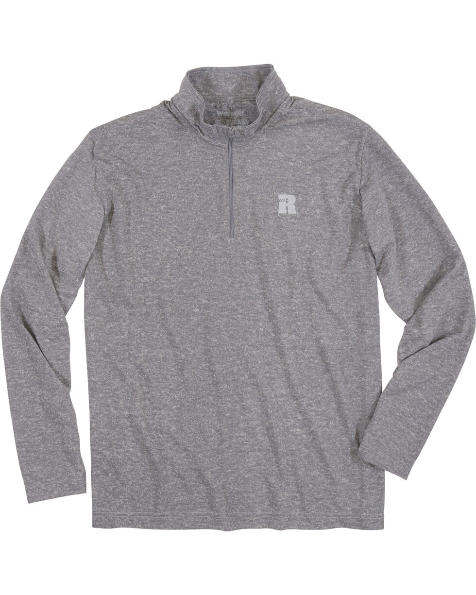 Wrangler Men's Olive Riggs Workwear 1/4 Zip Pullover , Heather Grey, hi-res