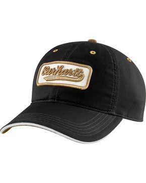Carhartt Men's Crosby Logo Cap, Black, hi-res