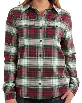 Carhartt Women's Hamilton Flannel Shirt, Rasp Parade, hi-res