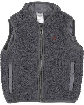 Wrangler Toddler Boys' Grey Sherpa Vest , Grey, hi-res