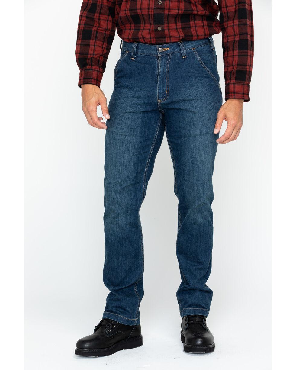 Carhartt Men's Full Swing Relaxed Fit Dungaree Jeans, Dark Blue, hi-res
