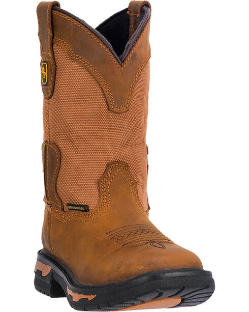Dan Post Youth Boys' Brown Cowboy Certified Boots - Square Toe, Brown, hi-res