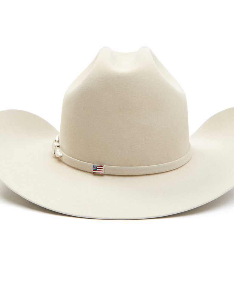 American Hat Co. 7X Silver Belly Self Band Wool Felt Rancher Western Hat , Silver Belly, hi-res