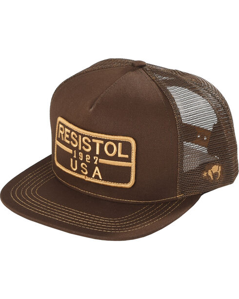 Resistol Men's Brown Five Panel Mesh Baseball Cap , Brown, hi-res