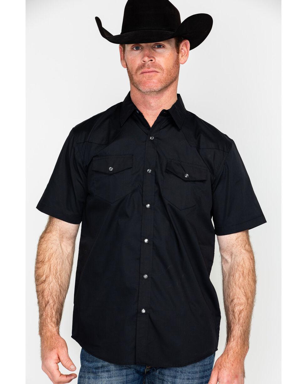 Gibson Men's Black Lava Short Sleeve Snap Shirt, Black, hi-res