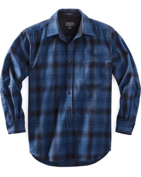 Pendleton Men's Blue Ombre Lodge Shirt , Blue, hi-res