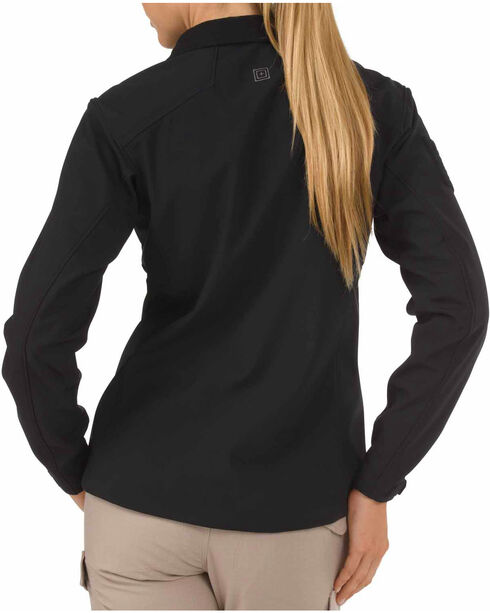 5.11 Tactical Women's Sierra Softshell Jacket, Black, hi-res