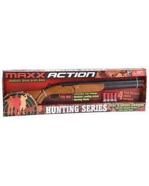 """Maxx Action 30"""" Over/Under Shotgun Toy , Brown, hi-res"""