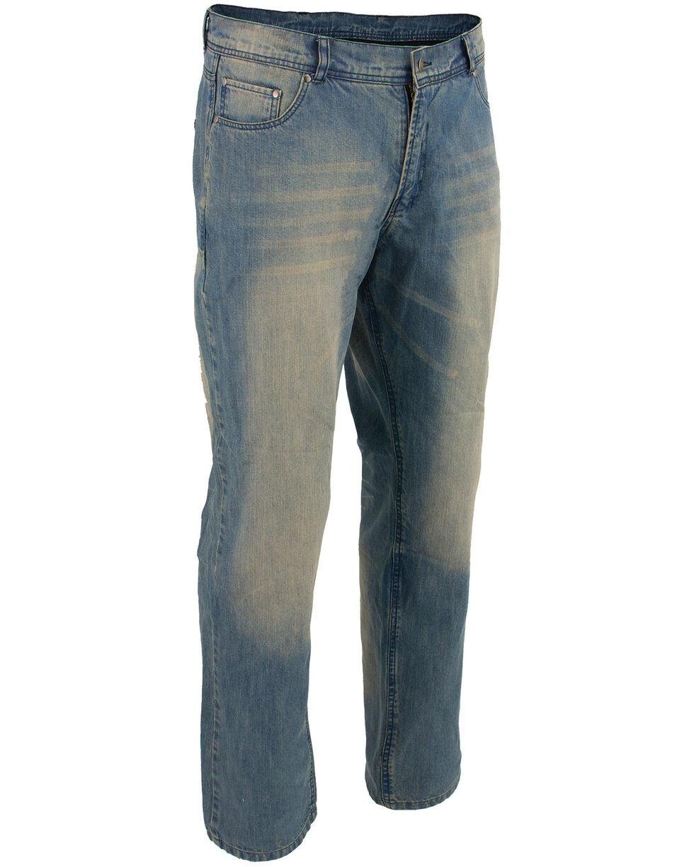 "Milwaukee Leather Men's Blue 32"" Denim Jeans Reinforced With Aramid - Big, Blue, hi-res"