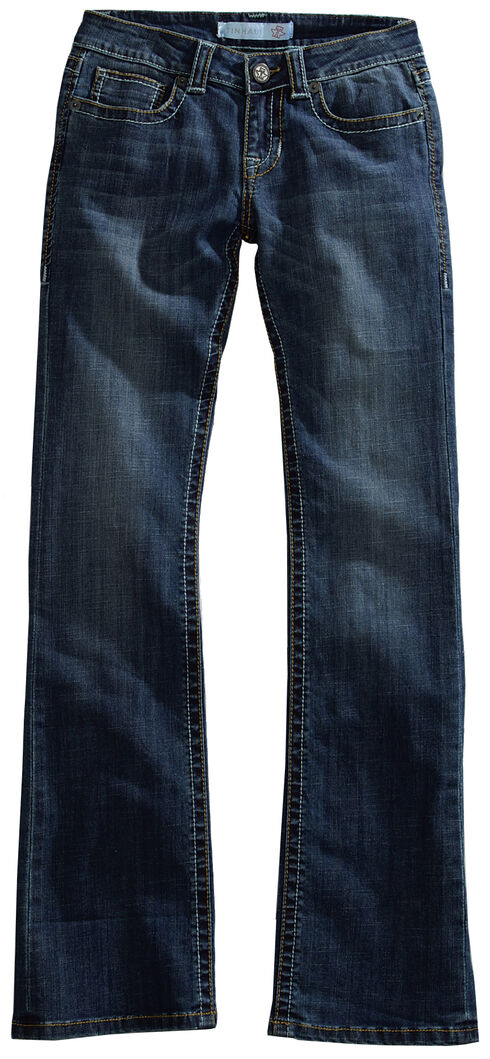 Tin Haul Women's Dolly Celebrity Two-Tone Stitch Bootcut Jeans, Denim, hi-res