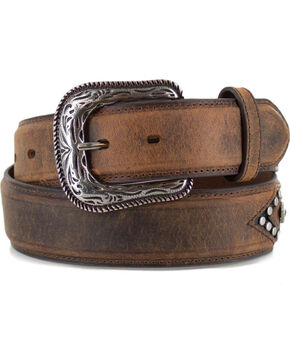Cody James Men's Tan Vintage Studded Concho Belt , Tan, hi-res