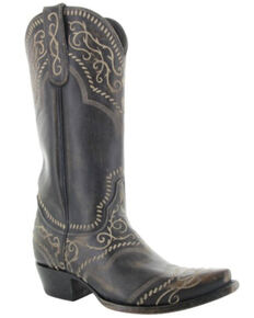 Old Gringo Women's Sintra Western Boots - Snip Toe, Black/brown, hi-res