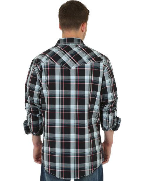 Wrangler 20X Men's Red & Black Plaid Shirt, Black, hi-res