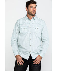 Moonshine Spirit Men's Synthesizer Floral Print Long Sleeve Western Shirt , Ivory, hi-res