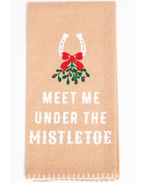 BB Ranch Mistletoe Tea Towel, Tan, hi-res