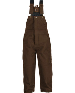 Berne Kids' Bark Washed Insulated Bib Overalls, Bark, hi-res